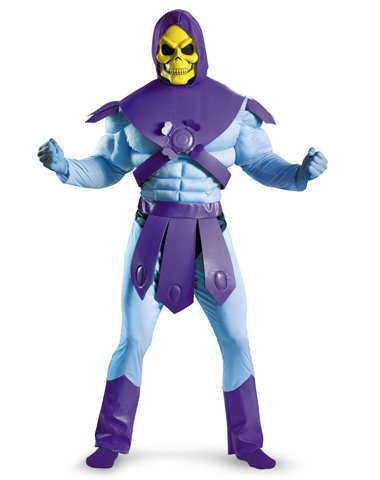 Jem And The Holograms Costume Belt (Disguise Men's Masters Of The Universe Skeletor Classic Muscle Costume, Light Blue/Purple, X-Large)