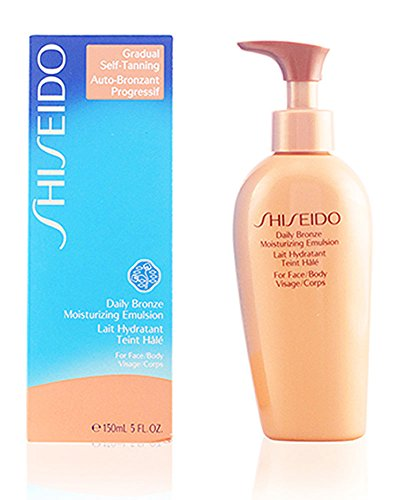 Shiseido Daily Bronze Moisturizing Emulsion Face and Body Lotion for Unisex, 5 Ounce