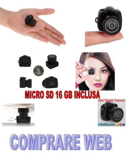 Cámara digital mini foto video Micro SD 16 GB incluida Rec cámara ...