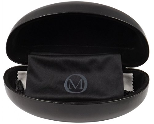 O'Meye Best Premium Large-XL Sunglasses/eyeglass Case Hard Metal Core Clamshell, Pouch, Premium-Lens Cleaning Cloth, 100% Satisfaction Guarantee! (OM95 - Eyeglasses Reviews