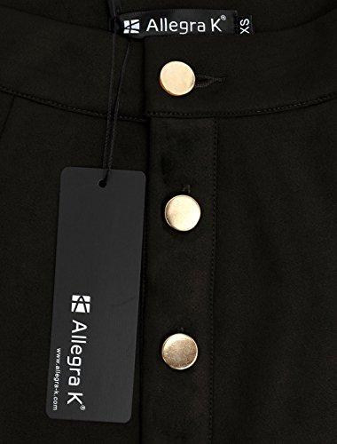 Allegra Mini A K Jupe Bouton Hauteur Fermeture Femme Ligne mi 114BYrn