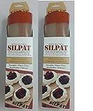 Silpat Premium Non-Stick Silicone Baking Mat, 11 3/4 Inch x 8 1/4 Inch (2 pack)