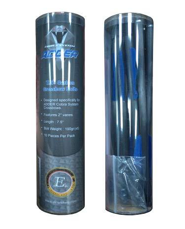 "A Pack of 10 x EK Carbon Archery R9 Crossbow Pistol Bolts 7.5/"""