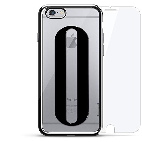 BLACK INITIAL O3 | Luxendary Chrome Series 360 Bundle: designer case + tempered glass for iPhone 6/6s in Silver