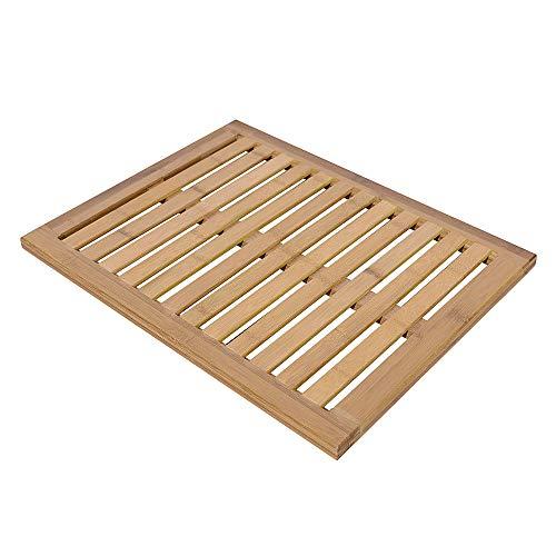 Anya Slip - Anya Nana Bamboo Floor Bath Mat Shower Mat Bathroom Floor Mat Spa Sauna Non-Slip