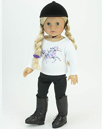 18 Inch Doll 4 Pc. Riding Lesson Outfit Perfect for the American Horse  Riding Girl c2d8d6c1d134