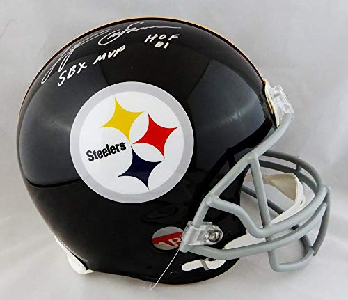 Lynn Swann Autographed F/S Steelers 63-76 TB ProLine Helmet w/ 2 Stats- JSA W Auth Silver