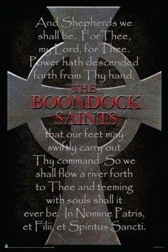 Scorpio The Boondock Saints Cross Poem Poster (Boondock Saints Movie Poster)
