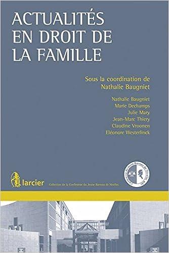 Livre Actualités en droit de la famille pdf, epub ebook