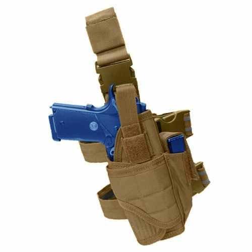Ultimate Arms Gear Tactical Desert Tan Adjustable Tornado Drop Leg Smith & Wesson S&W Pistol/Gun w/ Light Or Laser Holster + Magazine Pouch