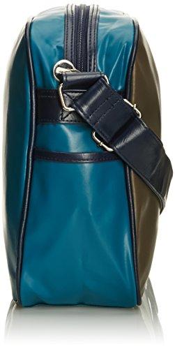 Gola Redford Cub 901 - Bolso de mensajero de sintético unisex W Grey/Mid Blue/Teal