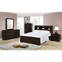 4pc King Size Bedroom Set in Cappuccino Finish