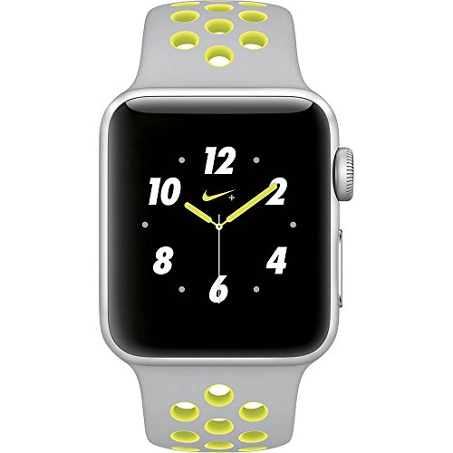 Apple Watch Nike+ 38mm SIlver Aluminum Case Silver/Volt Nike Sport Band