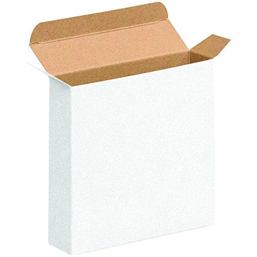"BOX USA BRTC38W Reverse Tuck Folding Cartons, 4"" x 1 5/8"" x 4"", White (Pack of 500)"