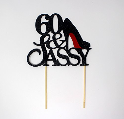 All About Details CAT60SABLA 60 & Sassy Cake Topper , 6in Wi