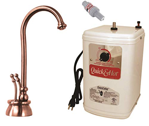 - Westbrass D262H-11 Docalorah Hot-Cold Water Dispenser Kit - Antique Copper