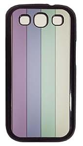 Pastel colors Custom Samsung Galaxy S3 I9300 Case Cover Polycarbonate Black