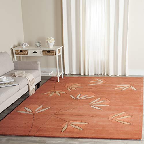 - Safavieh Soho Collection SOH304A Handmade Rust Premium Wool Area Rug (9'6