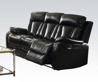 Acme Furniture 52255 Isidro Sofa (Motion), Black Leather-Aire