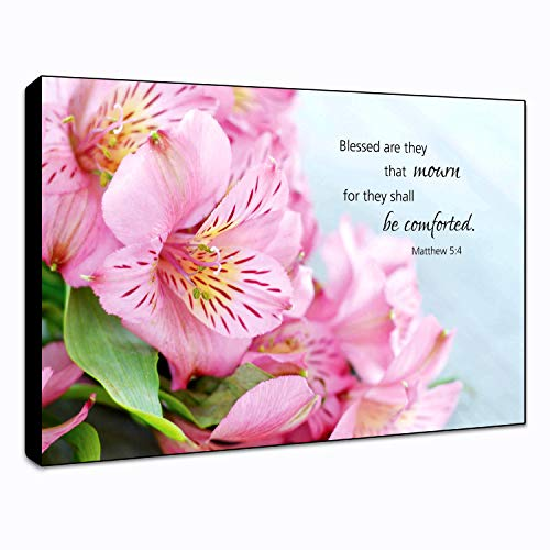 4 Wall Plaques - LACOFFIO Blessed Matthew 5:4 Wall Art Décor Plaque 9