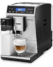De'Longhi Autentica Cappuccino ETAM 29.660.SB Volautomaat met melksysteem, Cappuccino en espresso met één druk op de knop, digitaal display met duidelijke tekst, 2-kopjesfunctie, zilver