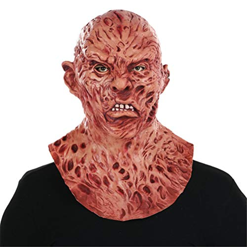 Xinjiahe Mask Horror Zombie Full Head Latex Mask Walking Dead Halloween Costume Party Creepy Mask One Size for Most Adults]()
