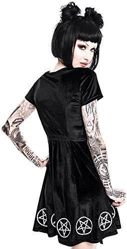 Schwarz Killstar Velvet Kleid amp; Dress Lace Quinn fFYFrxpBwq