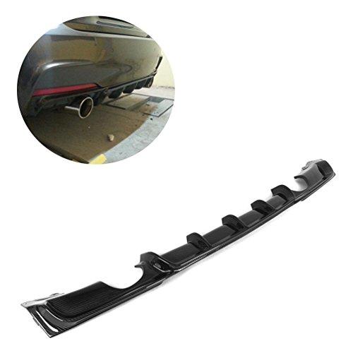 jcsportline Carbon Fiber Rear Diffuser Bumper Lip for BMW 3 Series 320i 325i 328i 330i 335i 340i F30 M-Sport 2013-2018 (Single Muffler Dual Out)