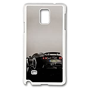 Galaxy Note 4 Case, Creativity Design Lotus Exige Venom Gt Print Pattern Perfection Case [Anti-Slip Feature] [Perfect Slim Fit] Plastic Case Hard White Covers for Samsung Galaxy Note 4