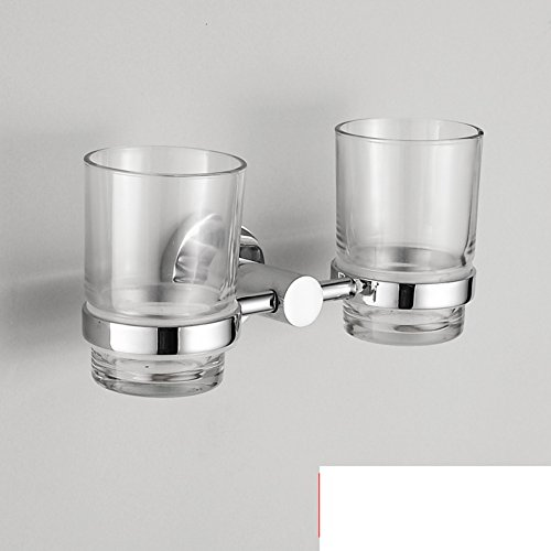 Bathroom copper double Cup holders on/gargle cup shelf / tooth brushing cup-A