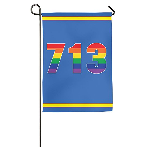 Gay Pride 713 Houston Area Code Polyester Garden Flag House Banner For Party Yard Home Outdoor Decor 1827inch
