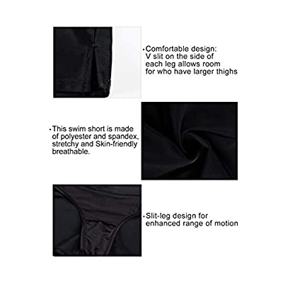 Aleumdr Women's Waistband Swimsuit Bottom Boy Shorts Swimming Panty at Women's Clothing store