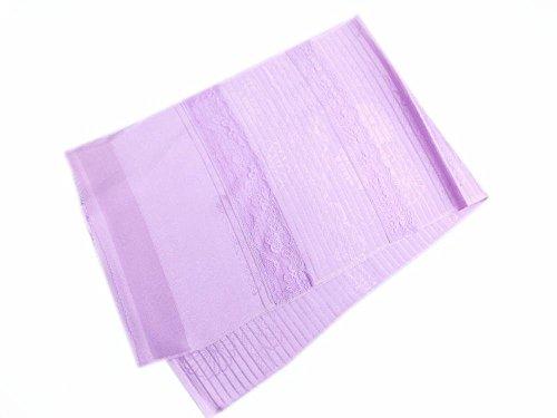 夏用(絽)正絹レース付帯揚げ薄紫色地菊雲 単衣?夏物着物に