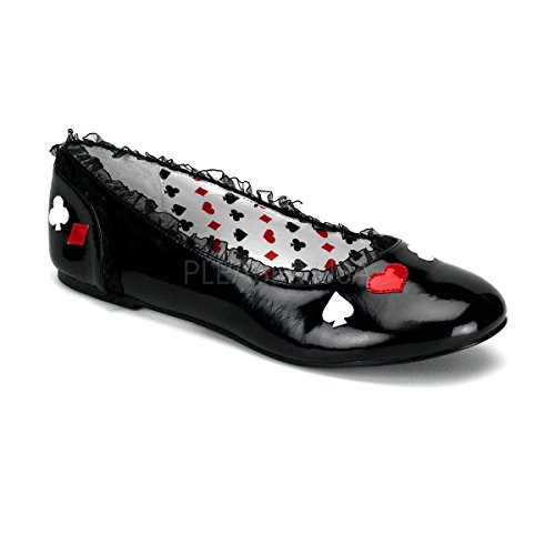 Funtasma by Pleaser Women's Alice-12 Flat,Black Patent,5 M US ()