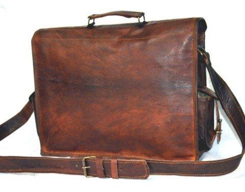 Handmadecraft Vintage Handmade Leather Messenger Bag