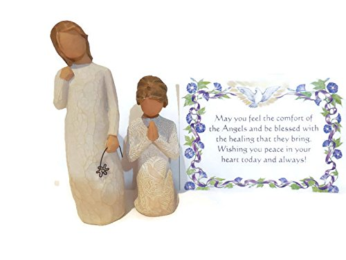 Willow Tree Prayer of Peace Figurine Bundle With Willow Tree Remember Statue. An Ideal Sympathy-Condolence Gifts For Loss Of Mother/Father/Loved One