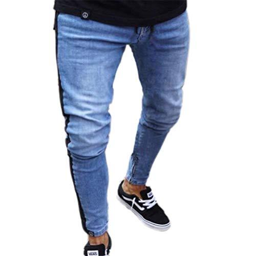 Diseño Flacos Casuales Hombres Jeans Dunkelblau1 Pantalones Los Battercake Ajustados De Mezclilla Denim Cómodo Rotos Moda CqgwSUxP0