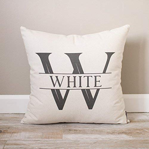 Initial with Last Name Pillowcase Monogrammed Pillowcase Cover Custom Name Pillowcase Personalized Pillowcase Cover Bridal Shower gift pillowcase Wedding gift pillowcase Pillowcase Cover