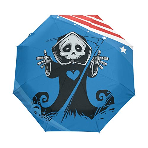 ag Automatic Foldable Umbrella UV Protection Auto Open Close Folding Sun Blocking Umbrellas for Travel Women Boys Girls ()