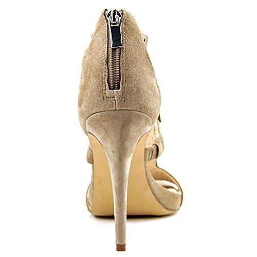 INC International Concepts Women's Sayge Fringe Heel Sandals True Taupe 21SnQwt8K