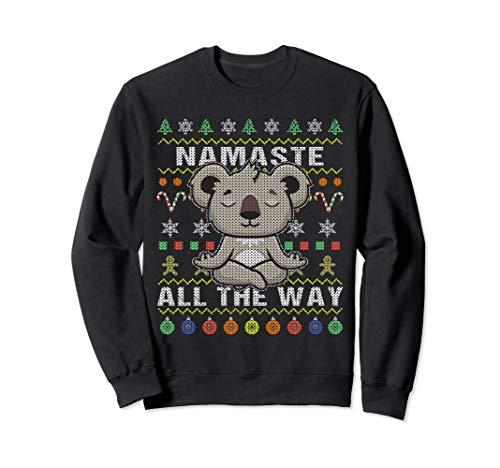 Koala Namaste Ugly Christmas Sweatshirt Namaste All The Way