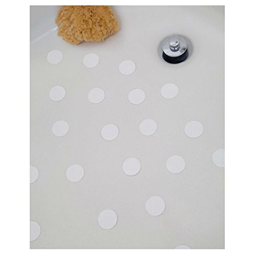 Bath Tub Anti-slip Discs - Non Skid Adhesive Shower Stickers Appliques Treads (white 2 pack) from Unknown