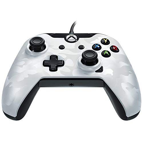 PDP Wired Controller for Xbox One - White Camo - Xbox One