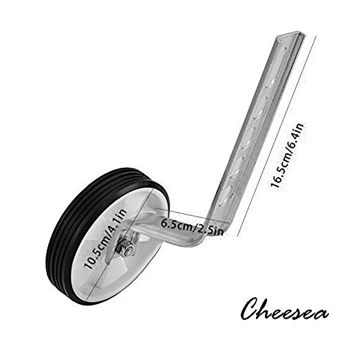 Cheesea 2pcs Stainless Steel 10'' - 20'' Universal Kids Training Wheels Stabiliser, Silver by Cheesea (Image #2)