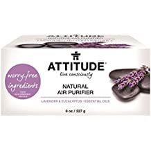 ATTITUDE, Natural Air Purifier, Lavender / Eucalyptus Essential Oils, 8 oz (227 g)