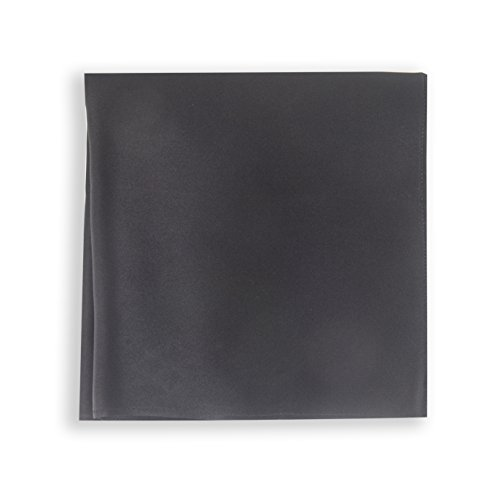 SelectedStyle 100% Pure Silk Pocket Square Solid Black for Father's Day Gift