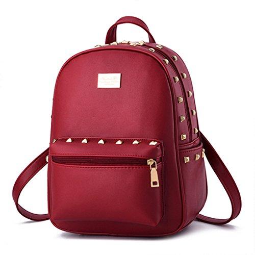 FOLLOWUS - Bolso mochila  para mujer, negro (negro) - G72241B rojo vino