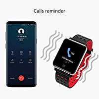 Smartwatch Fitness Tracker -1.3 Reloj Inteligente IP67 Impermeable con Podómetro Pulsómetro Presión Sanguínea Calorías Actividad Monitor para Hombre ...