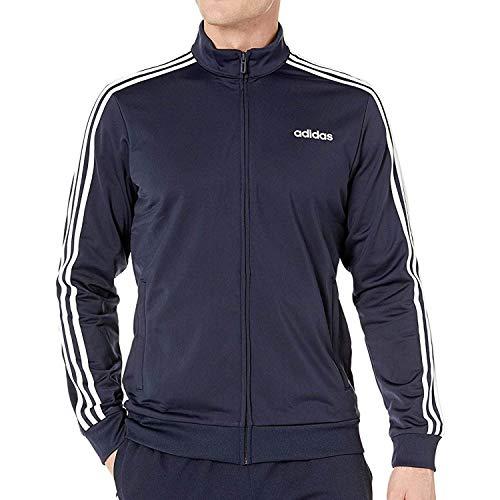 adidas Women's Essentials 3-stripes Tricot Track Jacket, Black/Real Magenta, Large