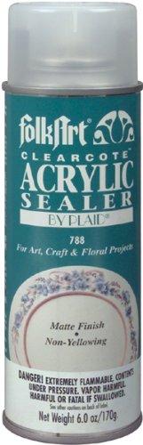 FolkArt 788 Clearcote Acrylic Sealer, 6 oz, Matte Plaid Inc decoart crayola painting